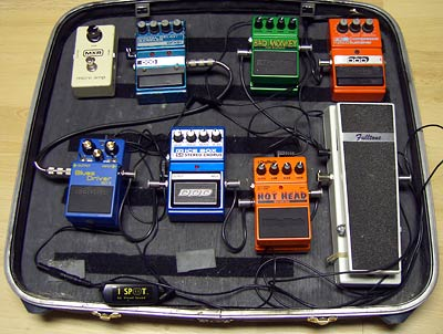 home made pedal board